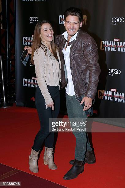 Denitsa Ikonomova and Rayane Bensetti attend the 'Captain America Civil War' Paris Premiere Held at Le Grand Rex on April 18 2016 in Paris France