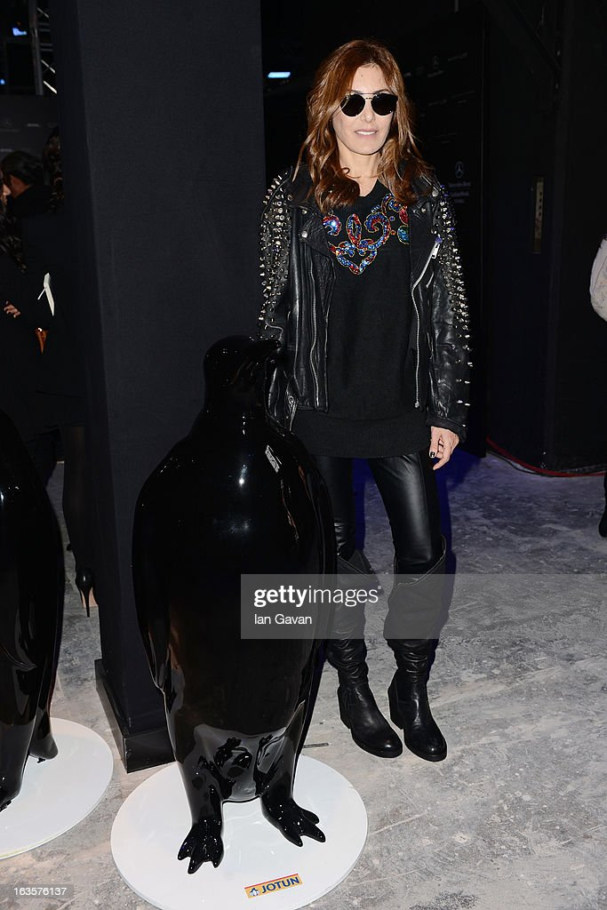 Deniz Berdan attends Mercedes-Benz Fashion Week Istanbul Fall/Winter 2013/14 at Antrepo 3 on March 12, 2013 in Istanbul, Turkey.