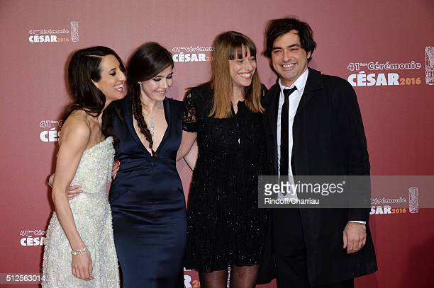 Deniz Gamze ErguvenTugba SungurogluAlice Winocour and Charles Gillibert arrive at The Cesar Film Awards 2016 at Theatre du Chatelet on February 26...