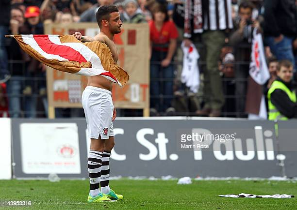 Deniz Naki of St Pauli reacts after the Second Bundesliga match between St Pauli and SC Paderborn at the Millerntor stadium on May 6 2012 in Hamburg...