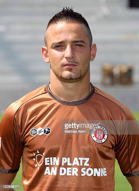 Deniz Naki poses during the FC St Pauli team presentation at Millerntor stadium on July 10 2010 in Hamburg Germany