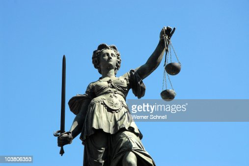 Denk mal, Justitia ! : Stock Photo