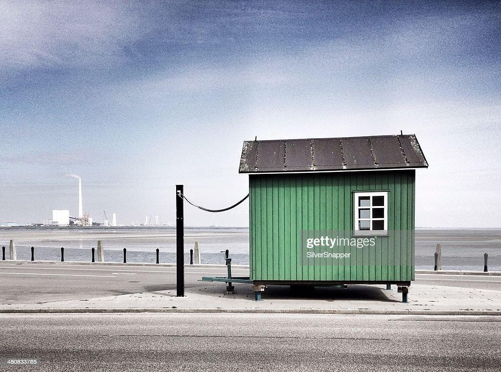 Denmark, Fanoe, Little green hut