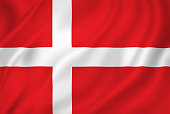 Denmark national flag background texture.
