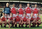 Denmark team group taken prior to the UEFA European Championships 1992 Group 1 match between Denmark and England held at the Malmo Idrottsplats on...
