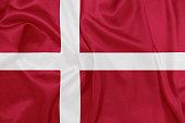 Denmark - Waving national flag on silk texture
