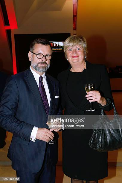 Denmark's ambassador to France Anne Dorte Riggelsen and Guest attend 'Friends of Quai Branly Museum Society' dinner party at Musee du Quai Branly on...