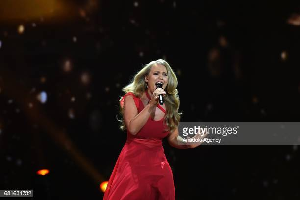 Denmark's Anja performs with the song 'Where I Am' during the second semifinal dress rehearsal of Eurovision Song Contest 2017 at the International...