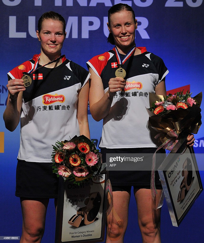 Denmark s Christinna Pedersen L and Kamilla Rytter Juhl R pose
