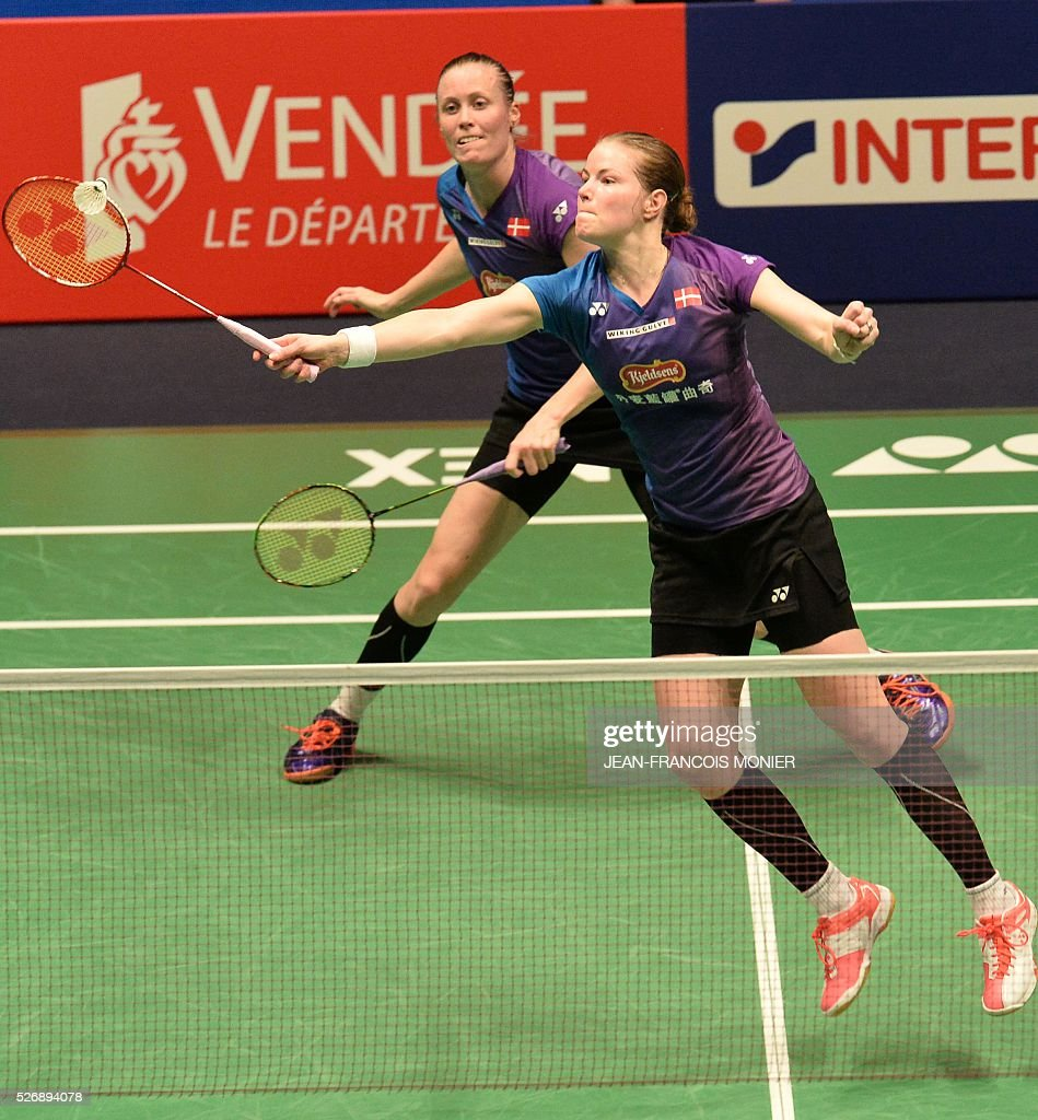 Denmark s Christinna Pedersen R and teammate Kamilla Rytter Juhl