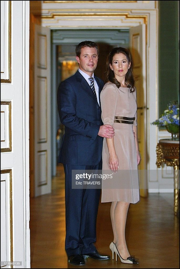 Denmark'S Crown Prince And His Fiancee Mary Elizabeth Donaldson in The Fredensborg Castle in Fredensborg, Denmark on October 08, 2003