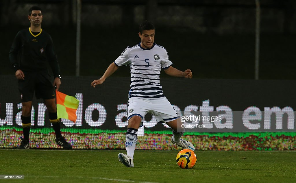 Denmark's defender Patrick da Silva in action during the U21 International Friendly between Portugal and Denmark on March 26, 2015 in Marinha Grande, Portugal.
