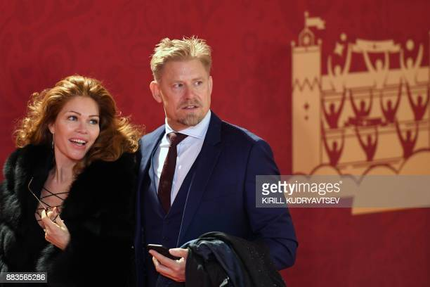 Denmark's former goalkeeper Peter Schmeichel arrives to attend the Final Draw for the 2018 FIFA World Cup football tournament at the State Kremlin...