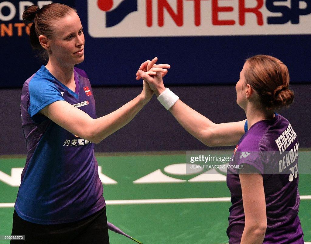 Denmark s Kamilla Rytter Juhl L and teammate Christinna Pedersen