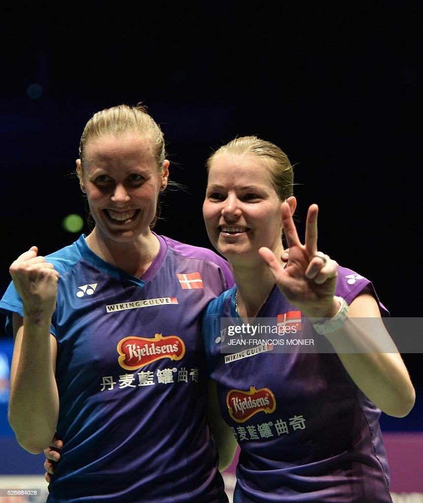 Denmark s Kamilla Rytter Juhl and teammate Christinna Pedersen