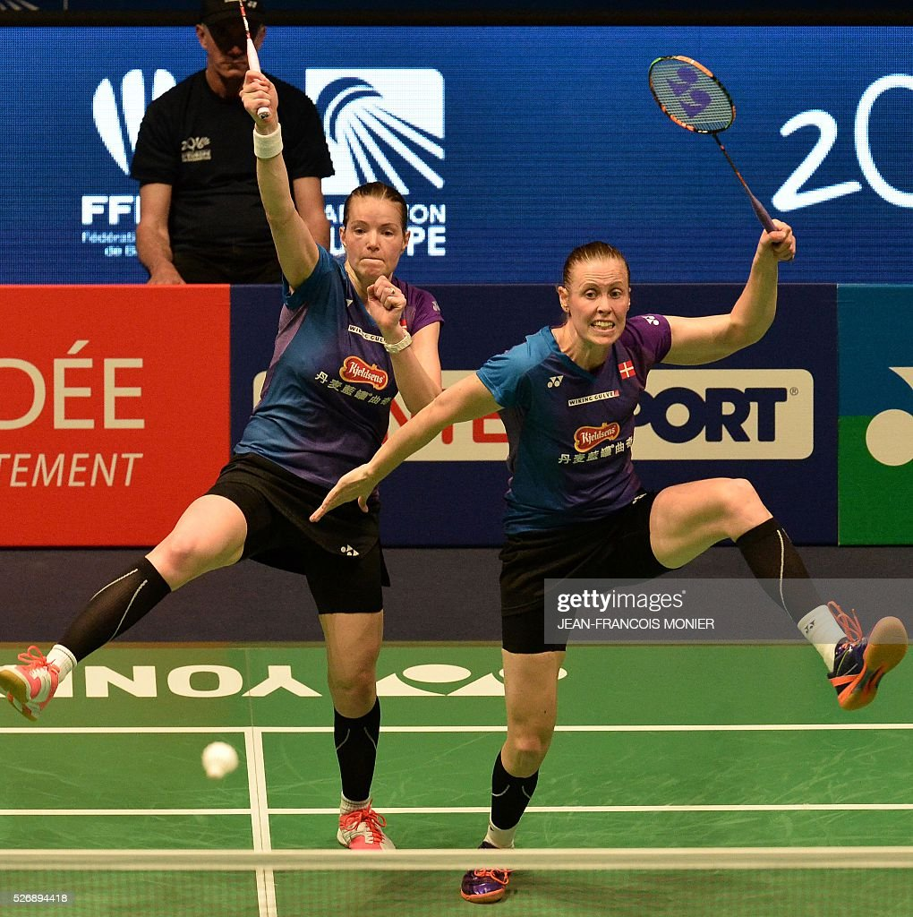 Denmark s Kamilla Rytter Juhl R and teammate Christinna Pedersen