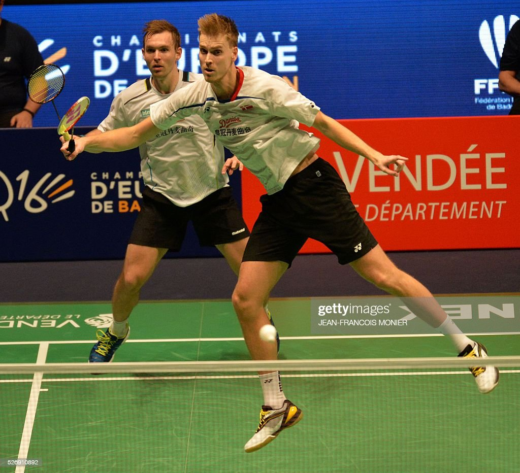 Denmark s Mads Conrad Petersen L and teammate Pieler Kolding