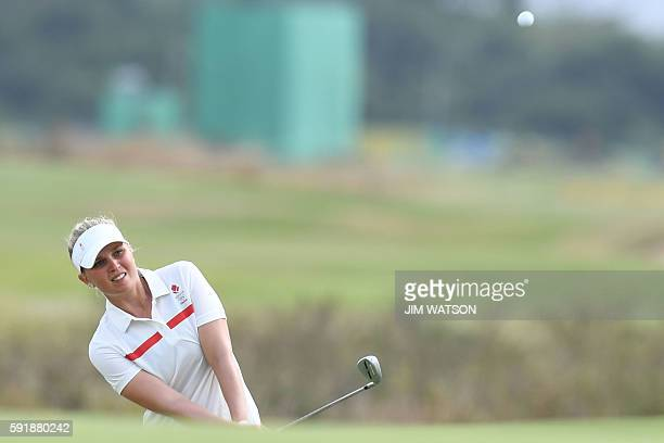 Denmark's Nanna Madsen competes in the Women's individual stroke play at the Olympic Golf course during the Rio 2016 Olympic Games in Rio de Janeiro...