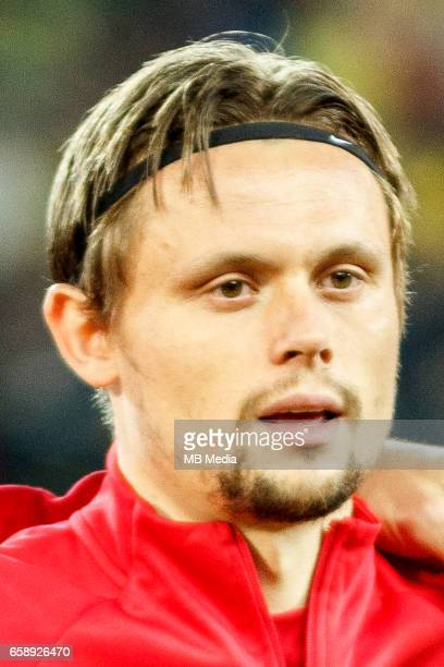 Denmark's national soccer player Peter Ankersen pictured before the 2018 FIFA World Cup qualifier soccer game between Romania and Denmark on March 26...