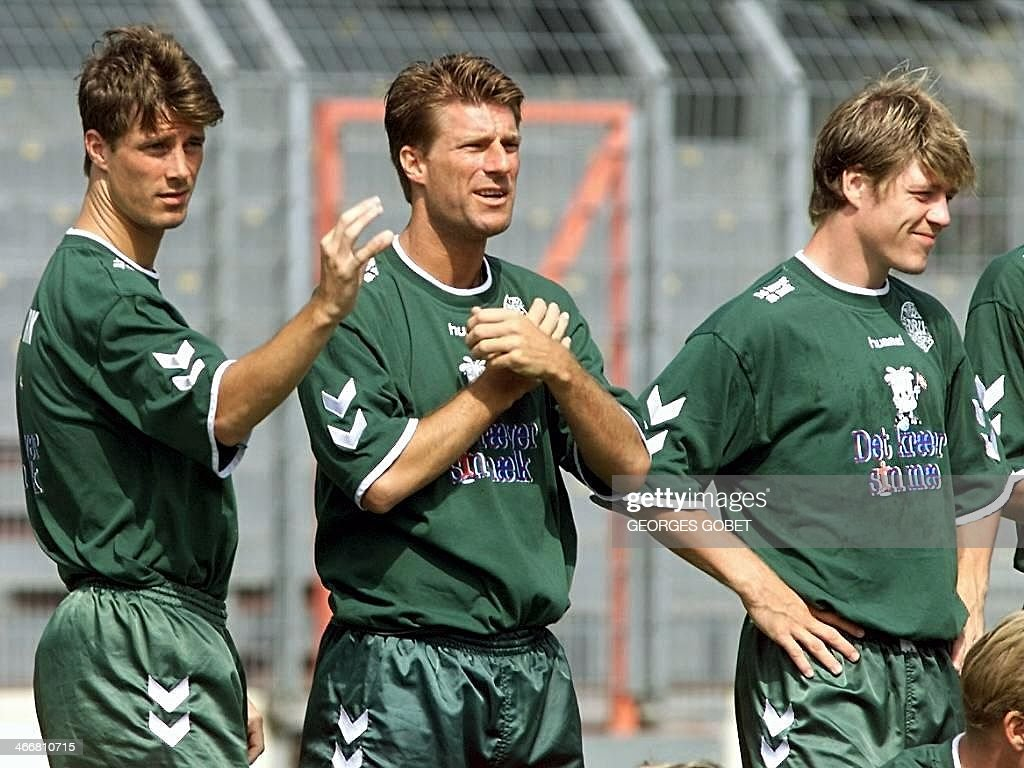 Denmark s national soccer team forwards Brian Laudrup Michael