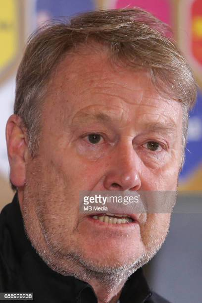 Denmark's national soccer team head coach Aage Hareide pictured at the press conference before the 2018 FIFA World Cup qualifier soccer game between...
