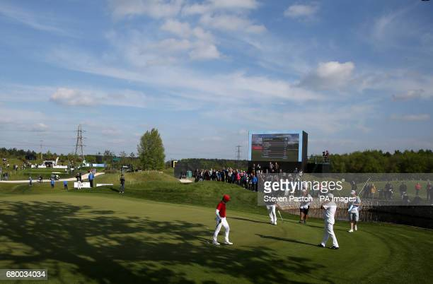 Denmark's Thorbjorn Olesen on the fifth hole in the final during day two of the Golf Sixes at the Centurion Club St Albans