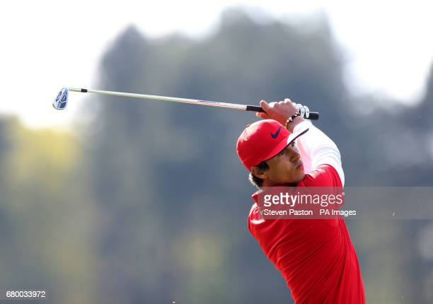 Denmark's Thorbjorn Olesen on the second hole in the final during day two of the Golf Sixes at the Centurion Club St Albans
