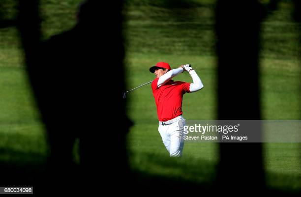 Denmark's Thorbjorn Olesen on the third hole in the final during day two of the Golf Sixes at the Centurion Club St Albans