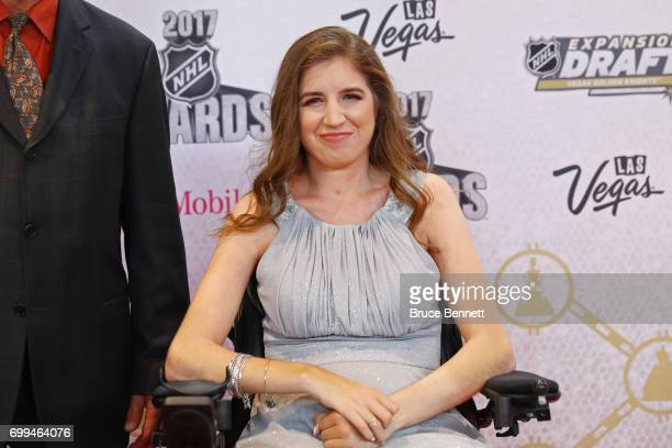 Denna Laing attends the 2017 NHL Awards at TMobile Arena on June 21 2017 in Las Vegas Nevada