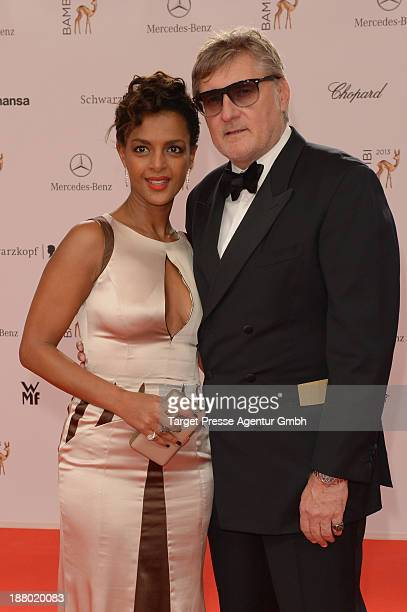 Dennenesch Zoude and Carlo Rola attend the Bambi Awards 2013 at Stage Theater on November 14 2013 in Berlin Germany