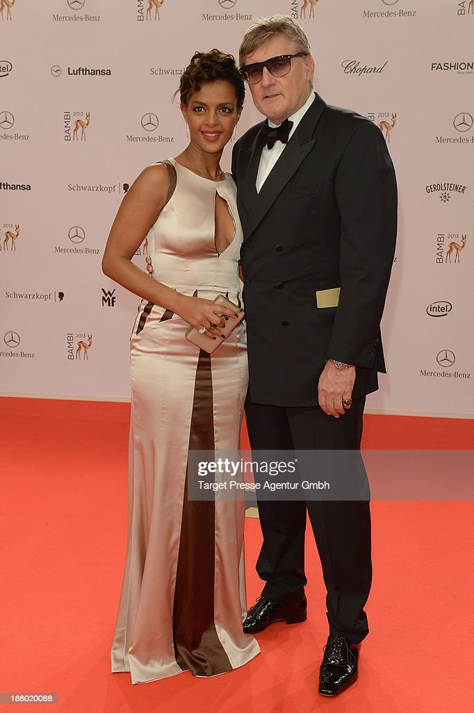 Dennenesch Zoude and Carlo Rola attend the Bambi Awards 2013 at Stage Theater on November 14, 2013 in Berlin, Germany.