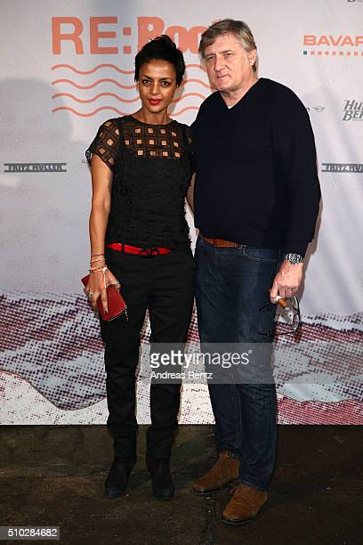 Dennenesch Zoude and Carlo Rola attend the Bavaria Film Party REBOOT on February 14 2016 in Berlin Germany