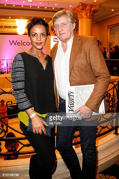 Dennenesch Zoude and Carlo Rola attend the Medienboard BerlinBrandenburg Reception on February 13 2016 in Berlin Germany