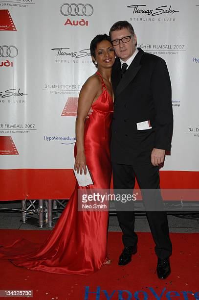 Dennenesch Zoude and Carlo Rola during Deutscher Filmball 2007 Red Carpet at Hotel Bayerischer Hof in Munich Bayern Germany