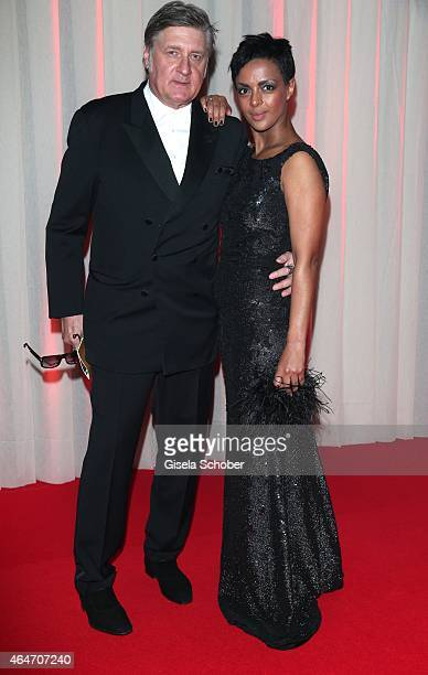 Dennenesch Zoude and her husband Carlo Rola during the Goldene Kamera 2015 reception on February 27 2015 in Hamburg Germany