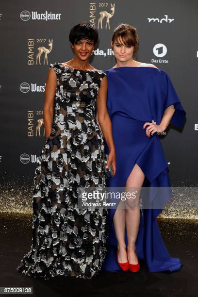 Dennenesch Zoude and Ina Paule Klink arrive at the Bambi Awards 2017 at Stage Theater on November 16 2017 in Berlin Germany
