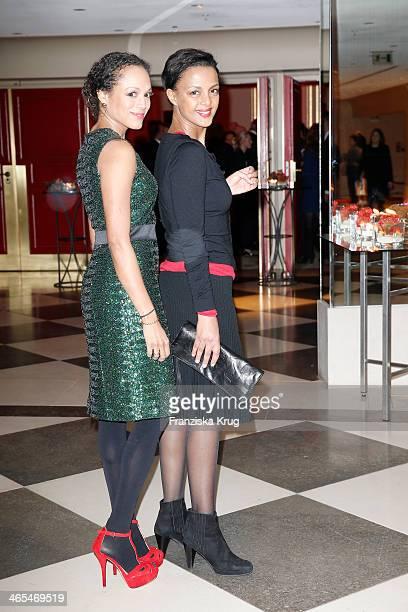 Dennenesch Zoude and Milka Loff Fernandes attend the Nelson Mandela Gala at the Hotel Adlon on January 27 2014 in Berlin Germany