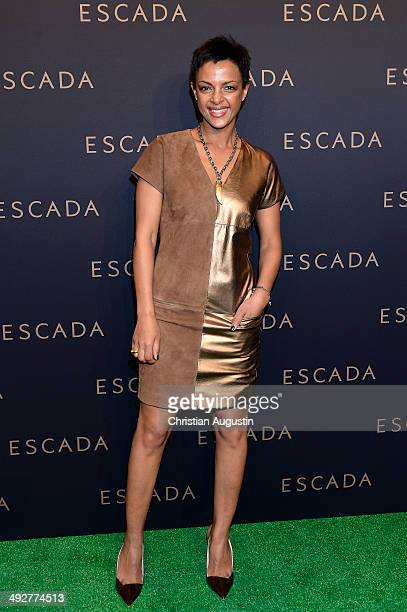 Dennenesch Zoude attends Escada Flagshipstore Opening at Kaisergalerie on May 21 2014 in Hamburg Germany