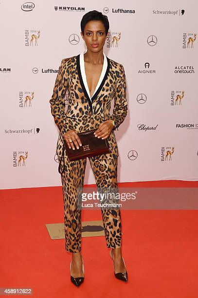 Dennenesch Zoude attends Kryolan at the Bambi Awards 2014 on November 13 2014 in Berlin Germany