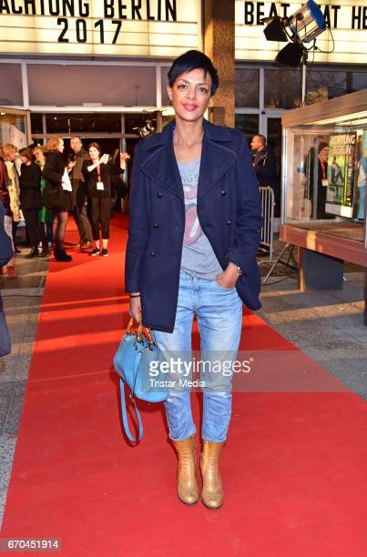 Dennenesch Zoude attends the Berlin Filmfestival Opening 'Achtung Berlin' With The Movie Beat Beat Heart on April 19 2017 in Berlin Germany
