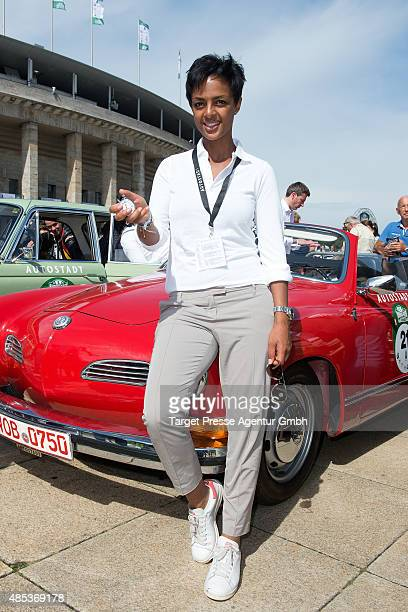 Dennenesch Zoude attends the HamburgBerlin Klassik Ralleye 2015 at Olympiastadion on August 27 2015 in Berlin Germany