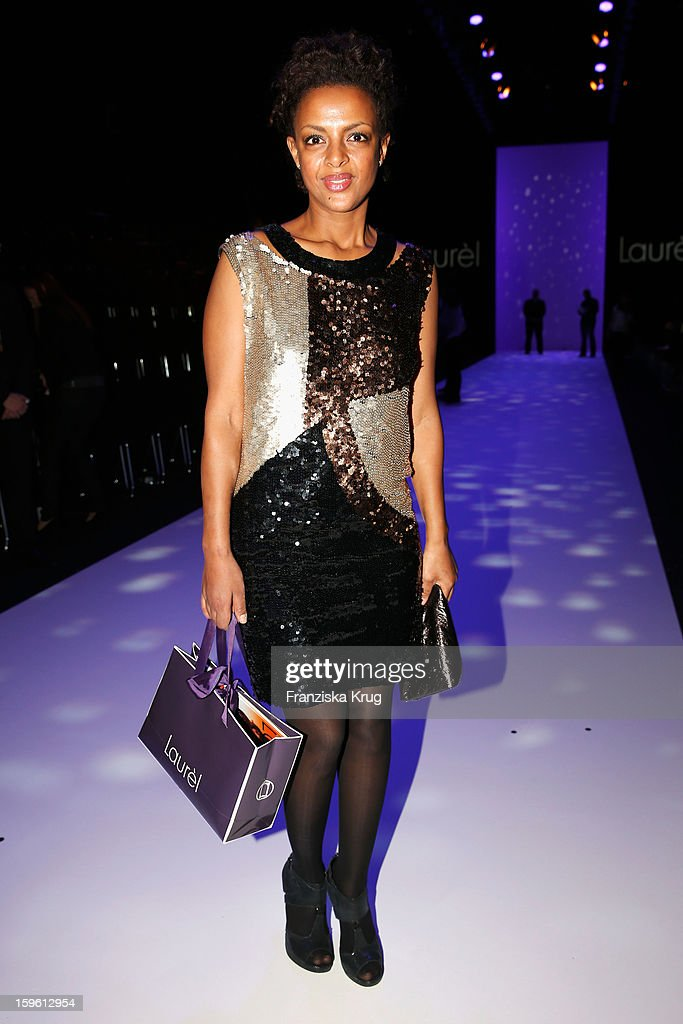 Dennenesch Zoude attends the Laurel Autumn/Winter 2013/14 fashion show during Mercedes-Benz Fashion Week Berlin at Brandenburg Gate on January 17, 2013 in Berlin, Germany.