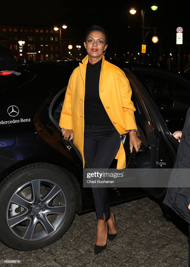 Dennenesch Zoude sighting during Mercedes-Benz Fashion Week Autumn/Winter 2014/15 at Brandenburg Gate on January 18, 2014 in Berlin, Germany.