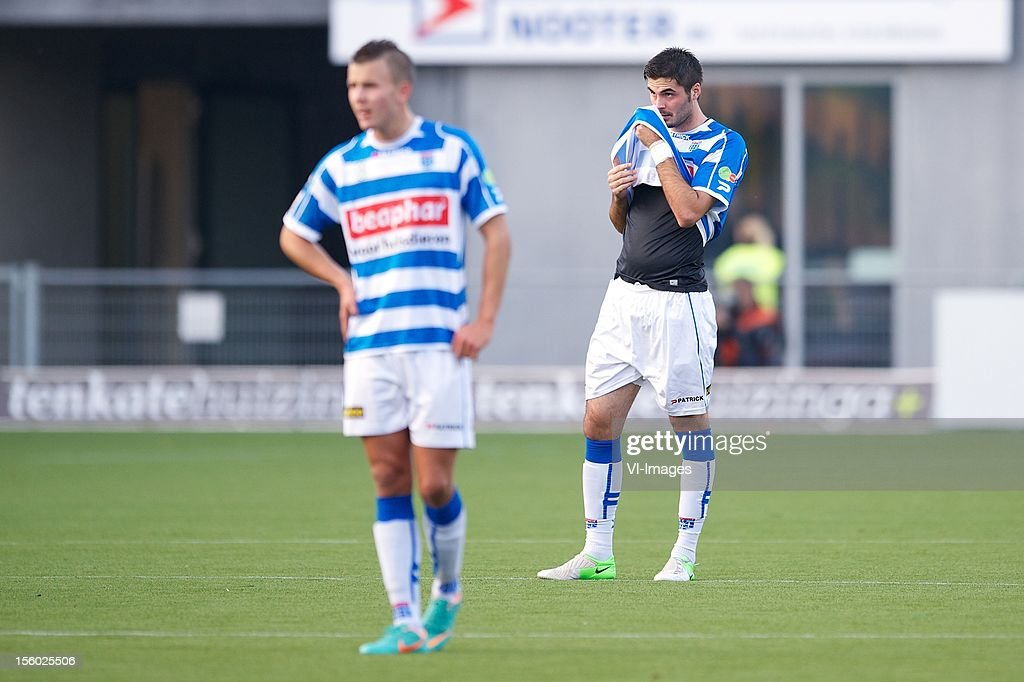 Denni Avdic of PEC Zwolle during the Dutch Eredivisie match between PEC Zwolle and Ajax Amsterdam at the IJsseldelta Stadium on November 11, 2012 in Zwolle, The Netherlands.