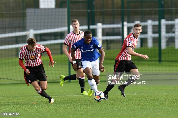 Dennis Adeniran of Everton during the Everton v Sunderland Premier league 2 match at USM Finch Farm on October 20 2017 in Halewood England