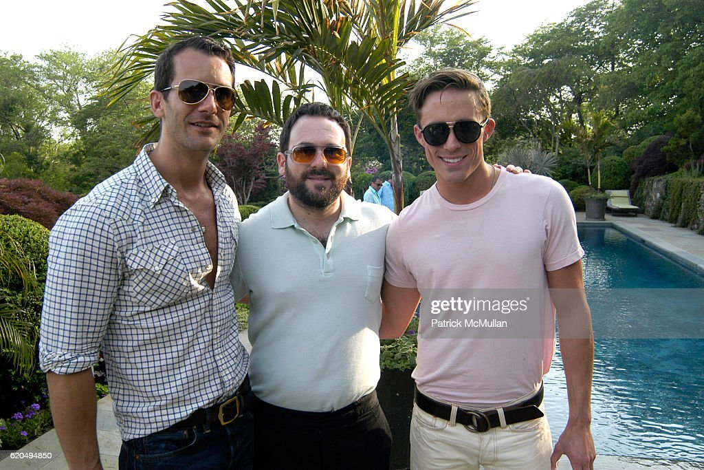 Dennis Adler, Scott Hoffman and Ryan White attend School's Out 2008, benefiting The Hetrick-Martin Institute, home of the Harvey Milk High School at East Hampton on June 9, 2008 in East Hampton, New York.