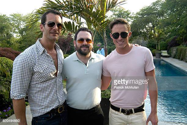 Dennis Adler Scott Hoffman and Ryan White attend School's Out 2008 benefiting The HetrickMartin Institute home of the Harvey Milk High School at East...