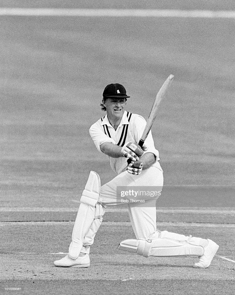 Dennis Amiss of Warwickshire during the Warwickshire v Glamorgan John Player League match played at Edgbaston, Birmingham on the 8th June 1986.