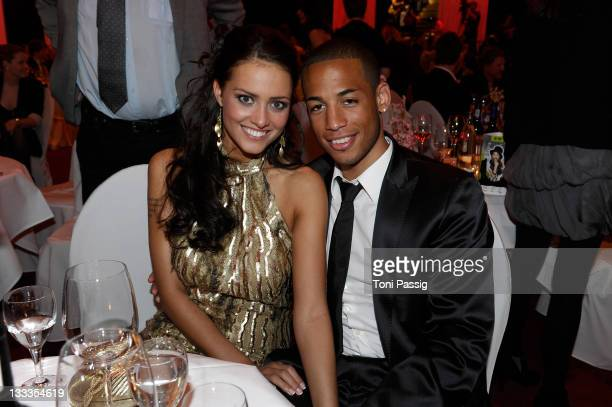 Dennis Aogo and girlfriend attend the 'LEA Live Entertainment Award 2010' at Color Line Arena on April 15 2010 in Hamburg Germany