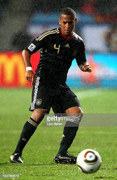 Dennis Aogo of Germany in action during the 2010 FIFA World Cup South Africa Third Place Playoff match between Uruguay and Germany at The Nelson...